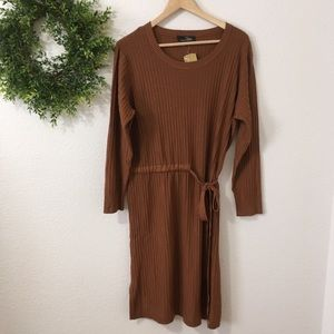 Suzanne Betro Knit Long Sleeve Dress